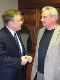 Lyle Balistreri and congressman Kegan