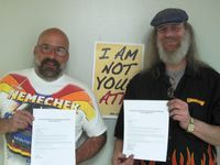 President Mike Kluth and Vice President Roger Sullivan of IAM Locall 1377
