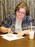 Brenda Cushman of AFSCME local 67 calls for AFSCME gotv phone bank Racine (2)