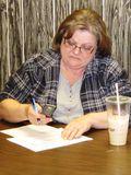 Brenda Cushman of AFSCME local 67 calls for AFSCME gotv phone bank Racine (2)