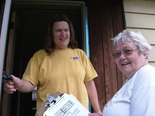 Eau Claire Walk-Canvass - 8-21-10 -V - At the Door